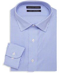Saks Fifth Avenue Slim-fit Gingham Dress Shirt - Blue