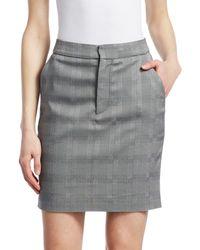Vetements Plaid Push-up Skirt - Gray