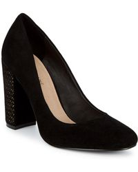 Saks Fifth Avenue - Geometrical Suede Court Shoes - Lyst