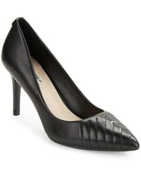 Karl Lagerfeld Women's Roulle Leather Point-toe Pumps - Black - Size 11