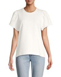 Rebecca Minkoff Women's Greta Short-sleeve Sweatshirt - White - Size M