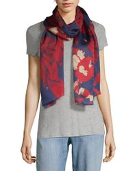 Vince Camuto - Shatter Floral Silk Scarf - Lyst