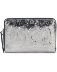McQ - Metallic Leather Pouch - Lyst