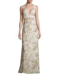MAJORELLE - Floral-print Floor-length Dress - Lyst