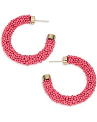 Ava & Aiden Goldtone Beaded Earrings - Multicolour
