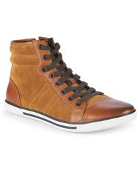 Kenneth Cole Base Down Low Suede Trainers - Brown