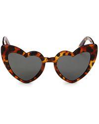 Saint Laurent 54mm Cat-eye Sunglasses - Brown