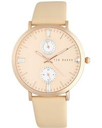 Ted Baker - Plated Stainless Steel Multifunction Watch - Lyst