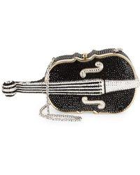 Judith Leiber - Violin-shaped Crystal-studded Clutch - Lyst