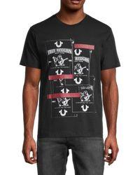 True Religion - Men's Buddha Graphic T-shirt - Heather Grey - Size S - Lyst