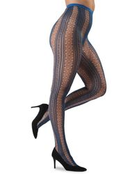 Memoi Epic Sheer Net Tights - Multicolor