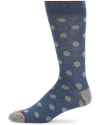 Saks Fifth Avenue - Large Dot Crew Socks - Lyst