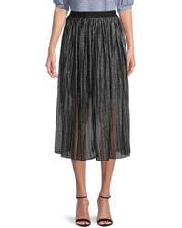 Sanctuary Women's Pleated Sheer Skirt - Black Sparkle - Size Xs