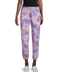 Spiritual Gangster Tie-dyed Trousers - Purple