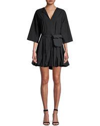 RHODE Ryan A-line Belt Bag Dress - Black