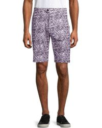 Greyson Printed Buttoned Shorts - Multicolour