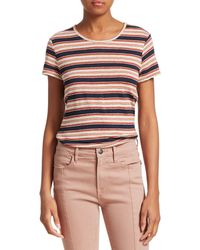 FRAME True Striped Linen Tee - Multicolor
