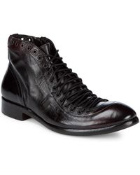 Jo Ghost - Leather Combat Boots - Lyst