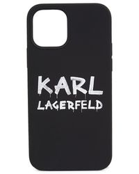 Karl Lagerfeld Iphone 12 / Iphone 12 Pro Silicone Case - Black