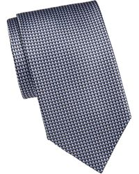Brioni Patterned Silk Tie - Red