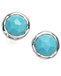 Ippolita Women's Rock Candy Turquoise & Sterling Silver Lollipop Stud Earrings - Metallic