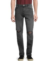 True Religion Men's Distressed Slim-fit Jeans - Grey - Size 30