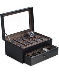 Bey-berk Men's Leather Watch Case - Black