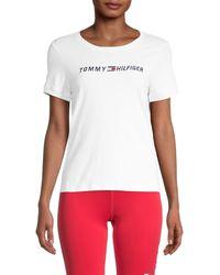 Tommy Hilfiger Stretch-cotton Logo T-shirt - White