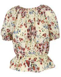 Maje Floral Silk Top - Multicolour