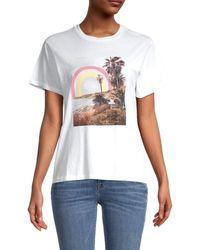 Wildfox Women's Rainbow Coast T-shirt - Clean White - Size Xs