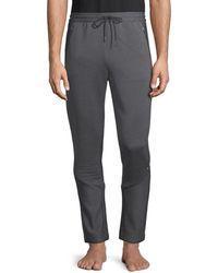 HUGO Striped Ottoman Sweatpants - Grey