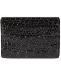 Saks Fifth Avenue Leather Card Case - Black