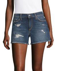 Joe's - Distressed Denim Shorts - Lyst