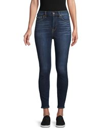 7 For All Mankind Whiskered Ankle Jeans - Blue