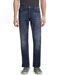 True Religion Men's Ricky Flap Super Jeans - Dark Blue - Size 36