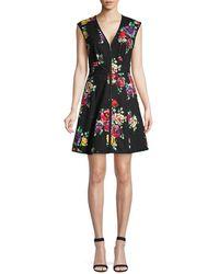 Kate Spade Women's Rare Roses Sleeveless Poplin Dress - Black - Size 0