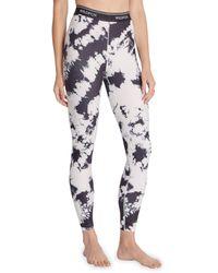 Wildfox Women's High-waist Tie-dyed Leggings - Black White - Size Xl