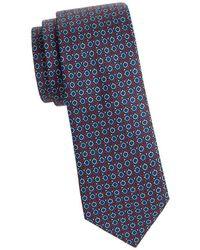 Saks Fifth Avenue - Patterned Silk Tie - Lyst