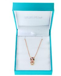 Effy - Diamond, 14k Gold And 14k Rose Gold Necklace, 0.26 Tcw - Lyst