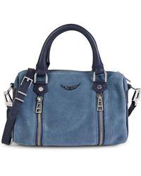 Zadig & Voltaire Sunny Suede Crossbody Bag - Blue
