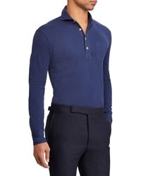 Ralph Lauren Long Sleeve Polo Shirt - Blue