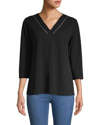 Calvin Klein V-neck Top - Black