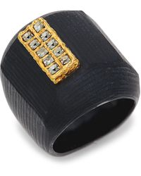 Alexis Bittar 10k Goldplated, Lucite & Crystal Ring - Multicolour