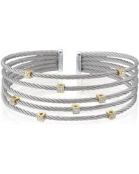 Alor - Classique Diamond, Stainless Steel And 18k Gold Bracelet - Lyst