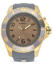 Kyboe - Gold Series Stainless Steel Cyclone Strap Watch - Lyst