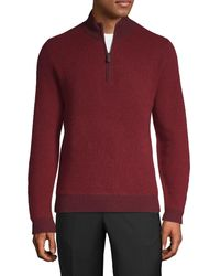 Saks Fifth Avenue Mockneck Cashmere Sweater - Blue