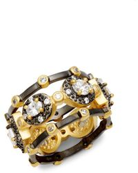 Freida Rothman - Harlequin Tiple Stack Ring - Lyst
