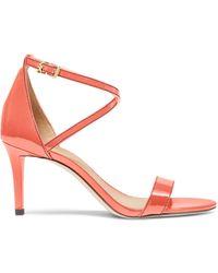 MICHAEL Michael Kors Ava Patent Leather Sandals - Pink