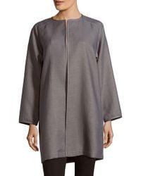 Lafayette 148 New York - Divina Solid Cotton-blend Coat - Lyst