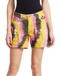 Ganni Colored Washed Denim Shorts - Multicolor